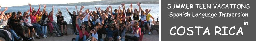 San Jose Costa Rica teenager spanish summer youth Language immersion vacations