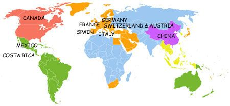 Language Map Of Spain.Teenager Language Vacation Teen Summer Camps Language Immersion